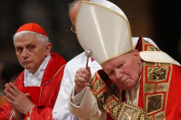 Papież Jan Paweł II i kard. Ratzinger