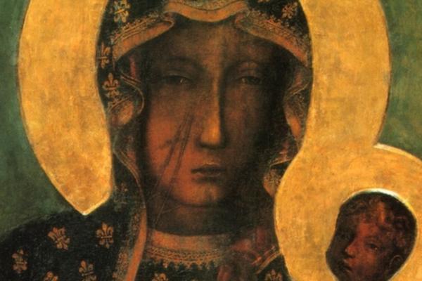 Łaskami słynący obraz Czarnej Madonny z Jasnej Góry.